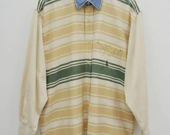 NAUTICA Shirt Vintage Nautica Stripes Button Down Shirt Size L