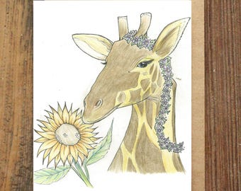 Happy Giraffe A6 Gift Card