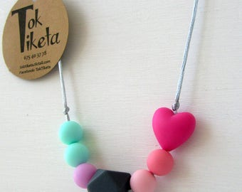 Breastfeeding or teething necklace. Teething necklace. Silicone Bead Teething Jewellery. MOD.1
