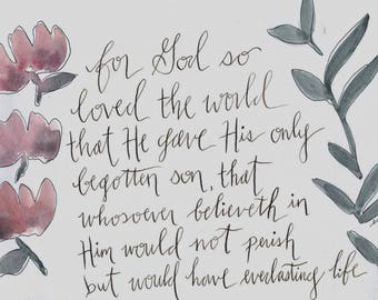 For God So Loved the World Digital Print