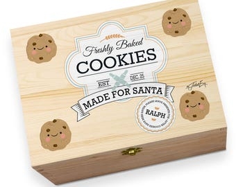 Freshly Baked Cookies for Santa Personalised Printed Christmas Eve Wooden Gift Box