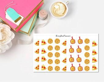 39 Pizza Night Planner Stickers ECLP Happy Planner