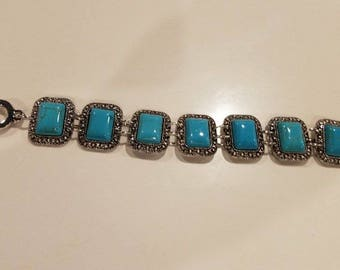Turquoise/Silver Bracelet