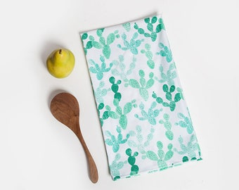 Cactus Tea Towel, Green, Tea Towel, Cactus, Cacti Decor, Cactus Lover, Cactus Gift, Cactus Kitchen, Hostess Gift, Kitchen Gift