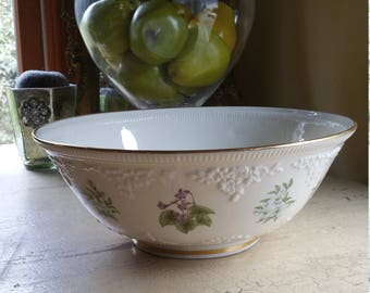 Large Lenox Bowl; The Constitution Bowl; Limited Edition; Gold Rimmed with floral Images