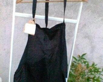 Little black cotton apron