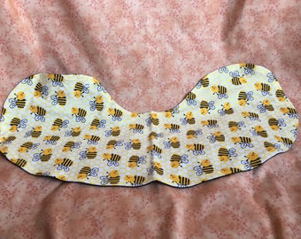 Flannel Burp Cloth - Reversible - Bumblebee's/solid black