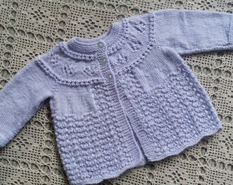 Baby jacket in lovely soft Lilac