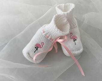 "Baby shoes ""Flamingo"""