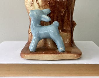 Shawnee Blue Fawn Deer Planter Pot or Pencil Cup