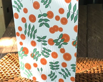 Citrus pattern greeting card - blank inside