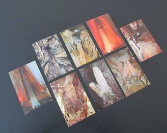Vintage Ruby Falls 1970s Postcards/Lookout Mountain Caverns Chattanooga Tennesse Postcards/Lot of 8 Unused Postcards