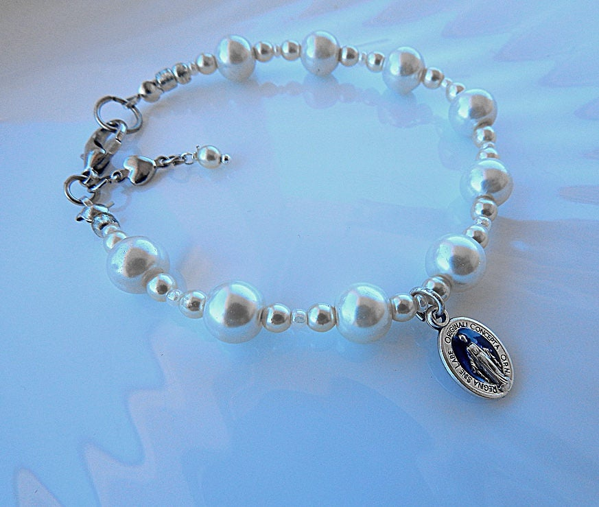 godmother pin gift goddaughter by bracelet sajolie baptism
