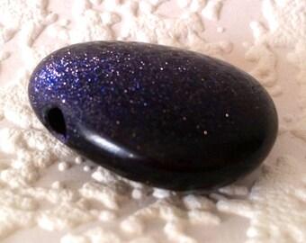 Gem drop, Blue River, 3 cm, drop trailers, violet, AA quality, midnight stone