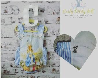 Handmade Childrenswear Spanish style romper Peter rabbit style