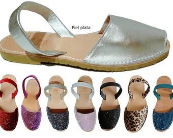 Authentic avarcas menorquinas beige-soled, manufactured in Menorca several colors, sandals, sandals, sandals, espadrilles