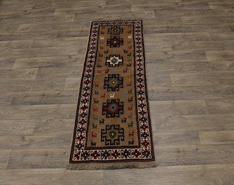 Excellent Tribal Design Runner Ghoochan Persian Area Rug Oriental Carpet 2X6