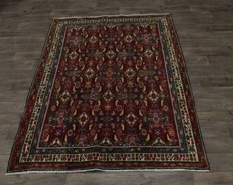 Excellent S Antique Ghashaghaei Shiraz Persian Area Rug Oriental Carpet 5'6X7'8