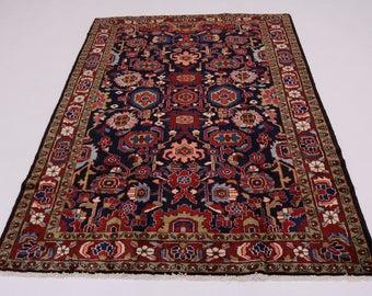Great Shape Handmade Unique Nanaj Nahavand Persian Rug Oriental Area Carpet 5X8