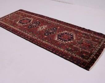 Beautiful S Antique Runner Karajeh Persian Wool Rug Oriental Area Carpet 3'5X9'5
