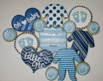1 Dozen Baby Shower Cookies + 6 Minis