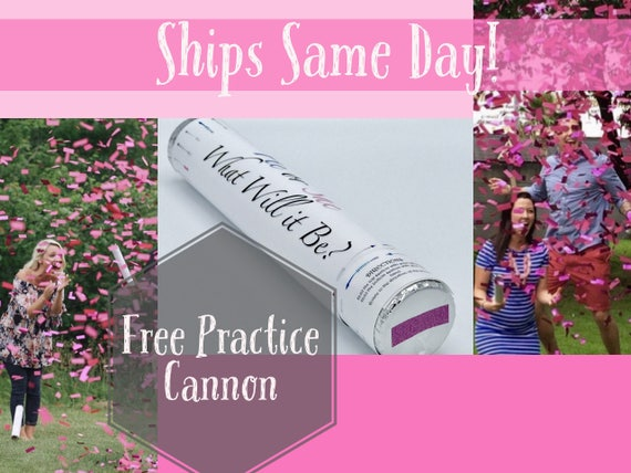 FREE CONFETTI CANNON  Ships Same Day Gender Reveal Confetti Cannons Smoke Bomb Alternative