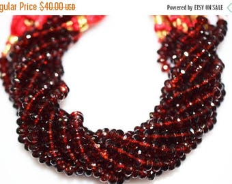 50% OFF AAA Quality Mozambique Garnet Rondelle Beads 8 Inch Strand ,Mozambique Garnet Faceted Rondelle Beads , 6 mm - MC238