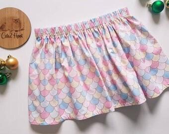 Mermaid skirt, basic skirt, girls skirt, mermaid