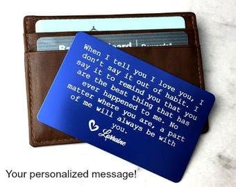 Anniversary • 10th anniversary • 10th anniversary for him • anniversary gift for him •  anniversary gift • wallet card insert •