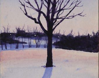 Winter Park art print 11x14