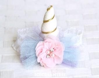 Petite Unicorn Horn Hat, Cat Unicorn Hat, Dog Unicorn Hat, Pet Photo Prop, Birthday Hat Gift  - Fairytale Unicorn