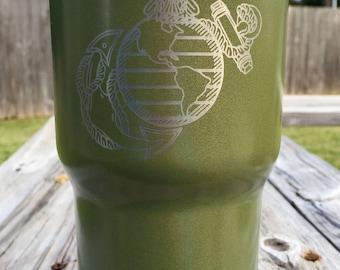 Custom Powder Coated Army Green RTIC 30oz Tumbler