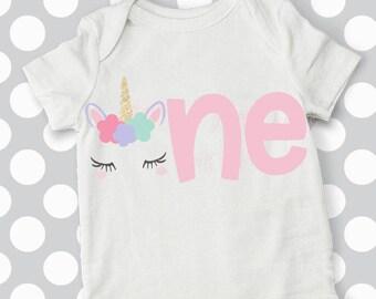 First Birthday svg, 1st birthday SVG, unicorn svg, iron on transfer, eps, dxf, cricut, silhouette, unicorn birthday, unicorn onesie, clipart
