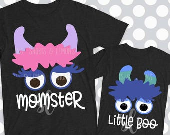 Halloween svg, Momster svg, Little Boo svg, monster svg, png, eps, DXF, Mommy and son, family halloween costume, ideas, shortsandlemons