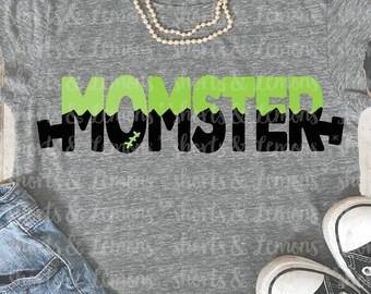 Momster svg, mom costume svg, Halloween svg, files for cricut, Printable iron on transfer, font svg, SVG, DXF, svg files, cricut file, mom