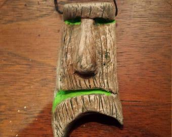 """cranky face tiki """"wood"""""""
