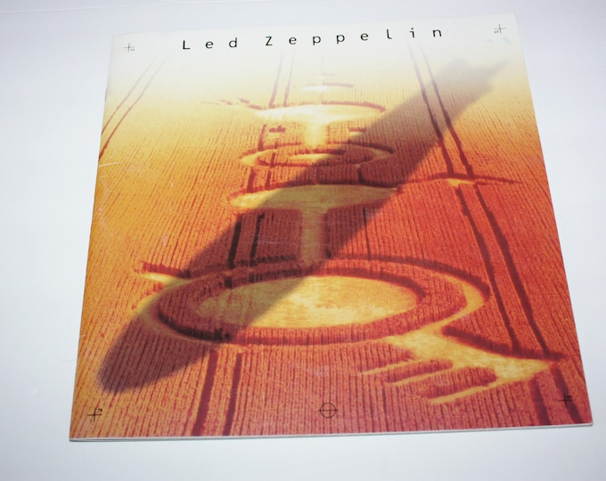Led Zeppelin Light and Shade Photo Book Program 1990 Cameron Crowe