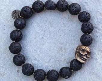 Mens bracelet, skull, men's bracelet