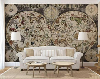 Wall Mural Decal Map, Map Wallpaper, Wall Mural Map, World Map Wall Decal Part 75
