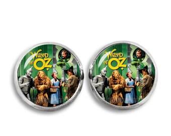 Wizard of Oz Stud Earrings Wizard of Oz 12mm Earrings Fandom Jewelry Kawaii Geeky Fangirl Fanboy