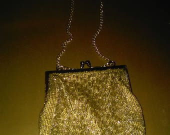 Vintage Beaded Evening Bag /Coin Purse /Clasp ******1930's-1940's********