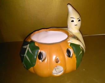 Vintage Halloween Candle Display Ghost Jack O Lantern  *****1990's******