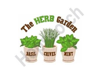 The Herb Garden - Machine Embroidery Design