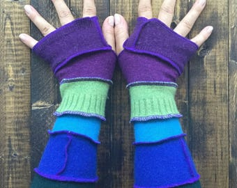 Fingerless Gloves// Arm Warmers -Made fromRecycled Sweaters// Upcycled Clothing