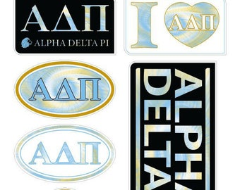 "ALPHA DELTA PI ""TieDye"" Sticker Sheet"