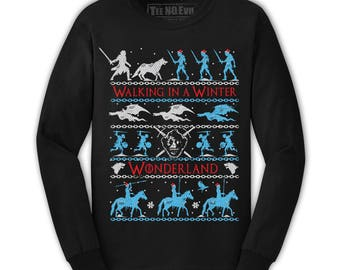 Game Of Thrones Ugly Christmas Sweatshirt Sweater Jon Snow, daenerys targaryen