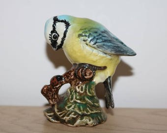 Adorable Beswick Blue Tit with Ladybird Figurine. 992. 1970s