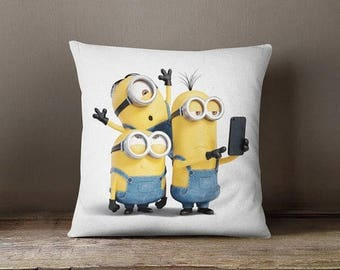 HOT SALE Minion Throw Pillow case, cushion cover minion decorative pillow case minion home gift guest room pillow cover bedroom decor home d