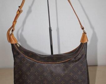 Authentic LOUIS VUITTON Monogram Boulogne 35 Shoulder Bag Handbag (Ref - 1516)
