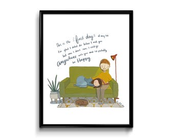 Wall Art Print - First Day Of My Life Art Print - Bright Eyes